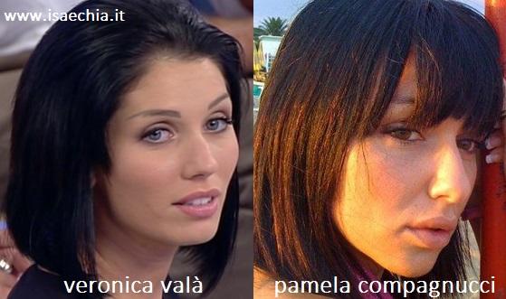 Somiglianza tra Veronica Valà e Pamela Compagnucci