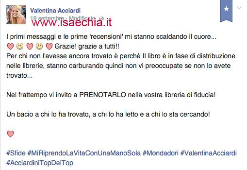Valentina Acciardi su Facebook3