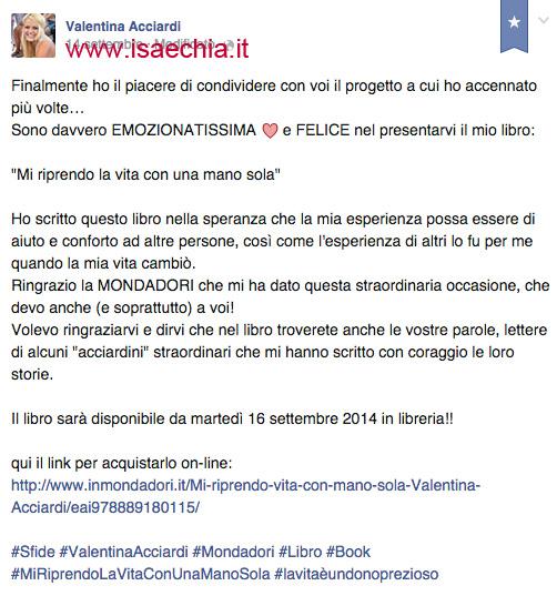 Valentina Acciardi su Facebook