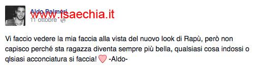 Aldo Palmeri su Facebook