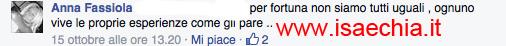 Anna Fassiola nei commenti
