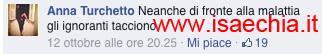 Anna Turchetto nei commenti