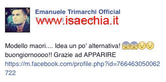 Emanuele Trimarchi su Facebook