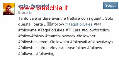 Ezio Federici su Instagram