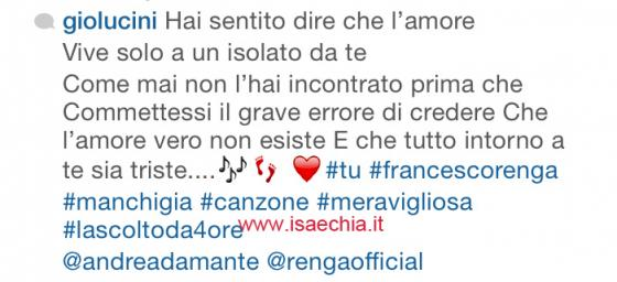 Giorgia Lucini su Instagram