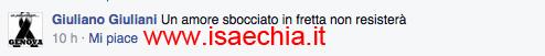 Giuliano Giuliani nei comenti