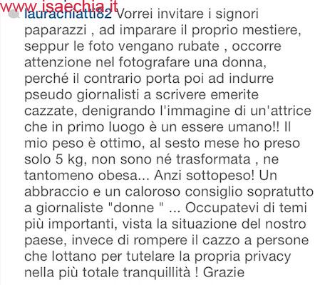 Laura Chiatti su Instagram