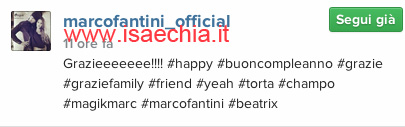 Marco Fantini su Instagram