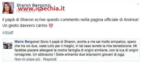 Il papà di Sharon Bergonzi su Facebook