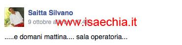 Silvano Saitta su Facebook