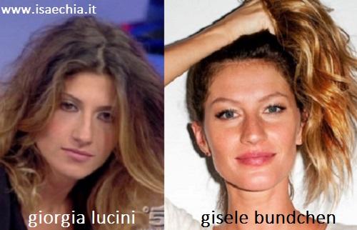 Somiglianza Giorgia Lucini e Gisele Bundchen