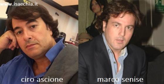 Somiglianza tra Ciro Ascione e Marco Senise