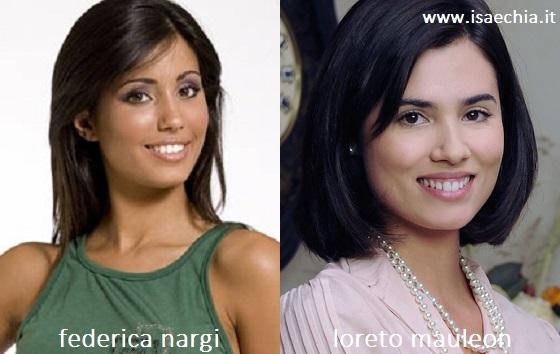 Somiglianza tra Federica Nargi e Loreto Mauleon
