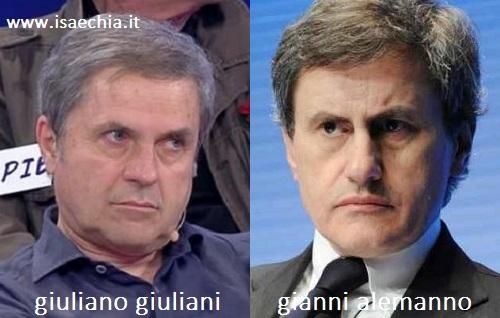 Somiglianza tra Giuliano Giuliani e Gianni Alemanno