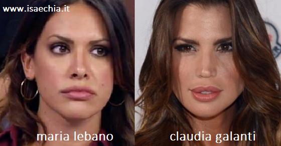 Somiglianza tra Maria Lebano e Claudia Galanti