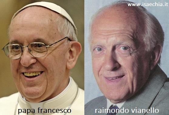 Somiglianza tra Papa Francesco e Raimondo Vianello