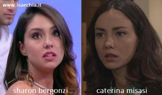 Somiglianza tra Sharon Bergonzi e Caterina Misasi