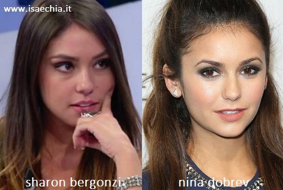 Somiglianza tra Sharon Bergonzi e Nina Dobrev