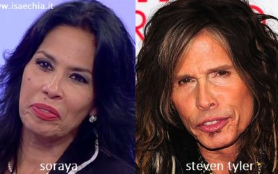 Somiglianza tra Soraya e Steven Tyler