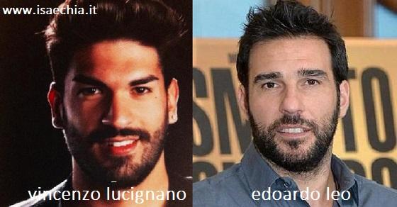 Somiglianza tra Vincenzo Lucignano e Edoardo Leo