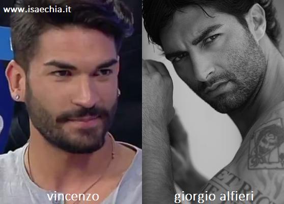 Somiglianza tra Vincenzo e Giorgio Alfieri