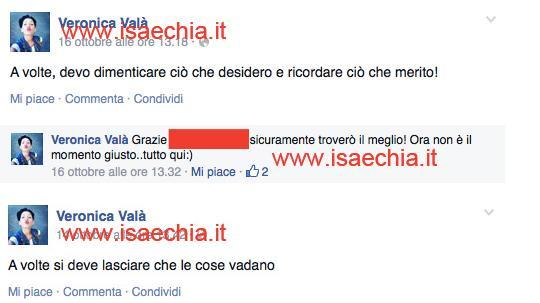 Veronica Valà su Facebook