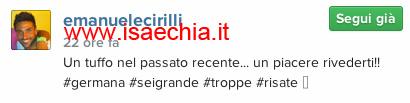 Emanuele Cirilli su Instagram
