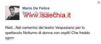 Mario De Felice su Facebook