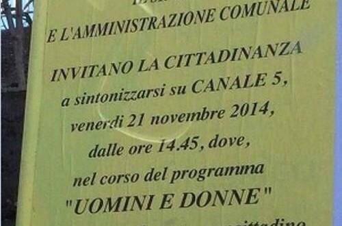 'Uomini e Donne': il comune di San Giuseppe Vesuviano invita i cittadini a seguire il compaesano Nicola Rapicano nel programma di Maria De Filippi