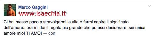 Marco Gaggini su Facebook