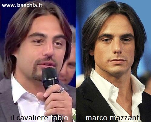 Somiglianza tra Fabio e Marco Mazzanti