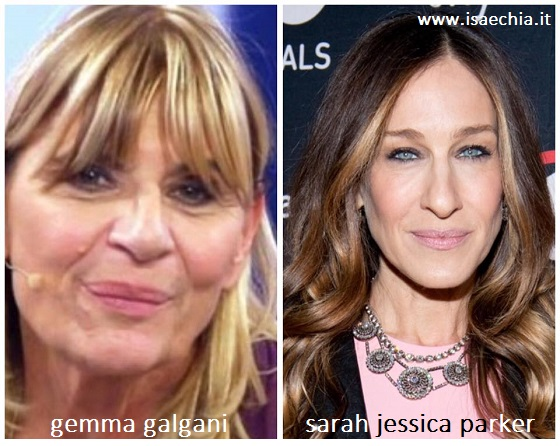 Somiglianza tra Gemma Galgani e Sarah Jessica Parker