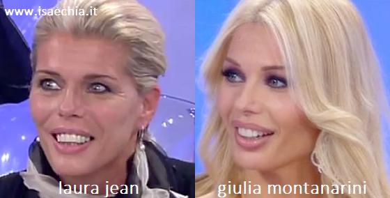 Somiglianza tra Laura Jean e Giulia Montanarini