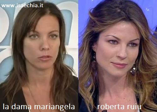 Somiglianza tra Mariangela e Roberta Ruiu