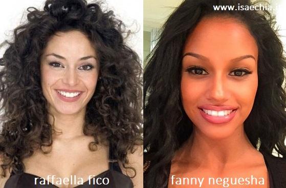 Somiglianza tra Raffaella Fico e Fanny Neguesha
