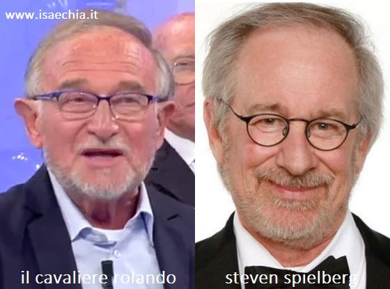 Somiglianza tra Rolando e Steven Spielberg