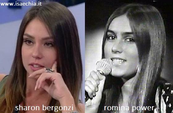 Somiglianza tra Sharon Bergonzi e Romina Power