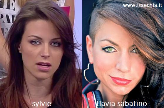 Somiglianza tra Sylvie e Flavia Sabatino