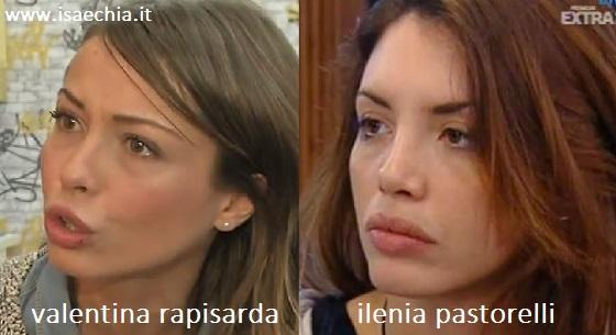 Somiglianza tra Valentina Rapisarda e Ilenia Pastorelli