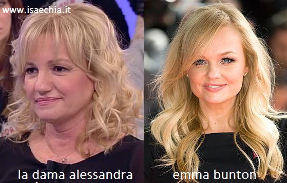 Somiglianza tra Alessandra ed Emma Bunton