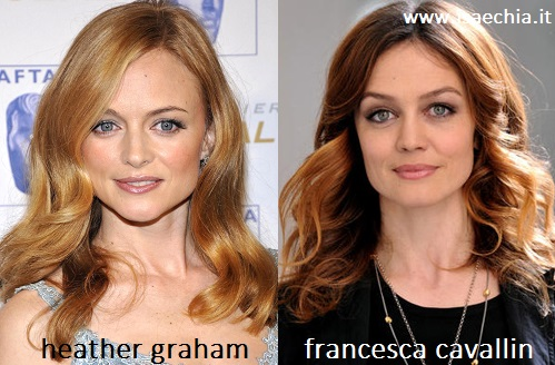 Somiglianza tra Heather Graham e Francesca Cavallin