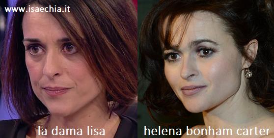 Somiglianza tra Lisa ed Helena Bonham Carter