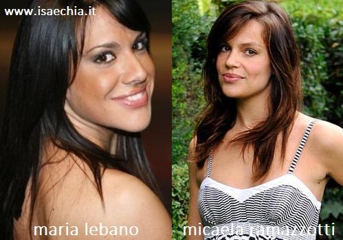 Somiglianza tra Maria Lebano e Micaela Ramazzotti