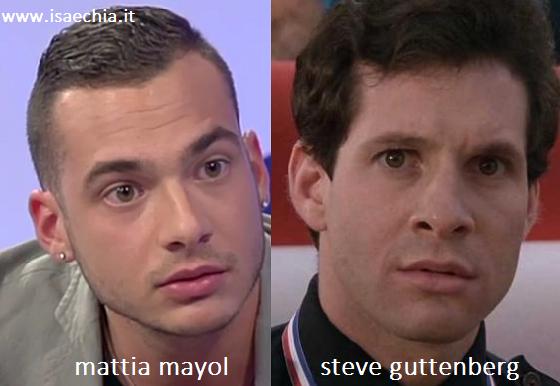 Somiglianza tra Mattia Mayol e Steve Guttenberg