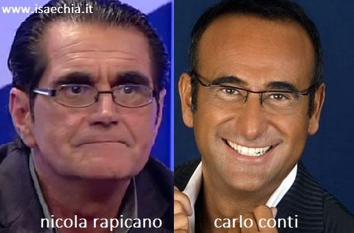 Somiglianza tra Nicola Rapicano e Carlo Conti