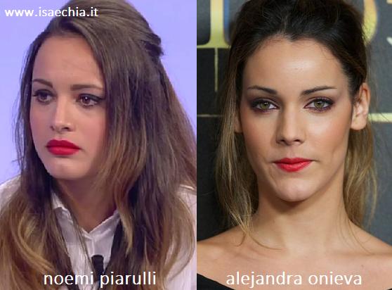 Somiglianza tra Noemi Piarulli e Alejandra Onieva