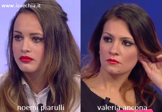 Somiglianza tra Noemi Piarulli e Valeria Ancona