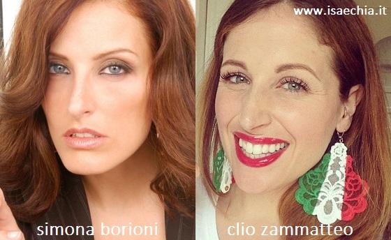 Somiglianza tra Simona Borioni e Clio Zammatteo