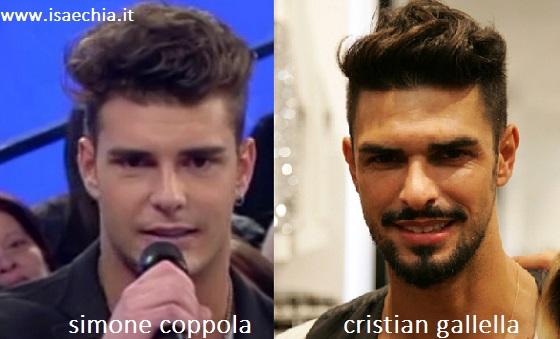 Somiglianza tra Simone Coppola e Cristian Gallella