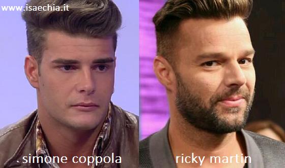 Somiglianza tra Simone Coppola e Ricky Martin